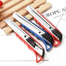 Utility razor knifes online shopping - Multifunction Utility Knife Art Cutter Students Paper Snap Off Retractable Razor Box Package Open Sharp Blade Knife Stationery VT0250