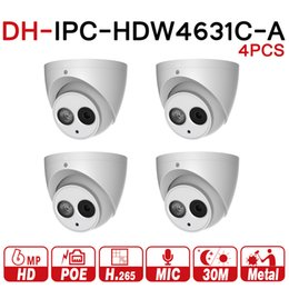 Discount metal upgrade - DH 6MP IP Camera IPC-HDW4631C-A Upgrade From IPC-HDW4431C-A POE Network Mini Dome Cam Built-in MIC CCTV Camera Metal 4pc