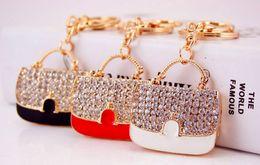 $enCountryForm.capitalKeyWord Australia - Bling Bling Crystal Rhinestone handbag Keychain Metal Keychain Keyring Car Keychains Purse Handbag Pendant bag Metal keychain