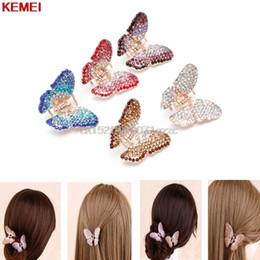 $enCountryForm.capitalKeyWord Australia - Fashion Women Girl Butterfly Claw Crystal Rhinestone Hair Clip Clamp Hairpin Jaw #H027#