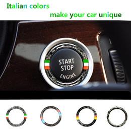 $enCountryForm.capitalKeyWord Australia - Car Engine Start Stop Ignition Switch Key Ring Stickers Carbon Fiber circle M Stripe Trim For BMW 3 Series e90 e92 e93