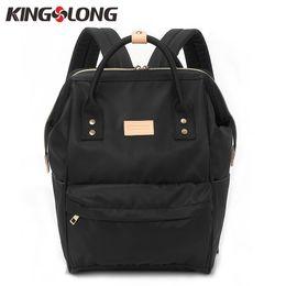 $enCountryForm.capitalKeyWord Australia - Kingslong Women''s Backpack Student College Water Repellen Nylon Bag Mochila Quality Laptop Bag School Backpack Klb1453-4 j190524