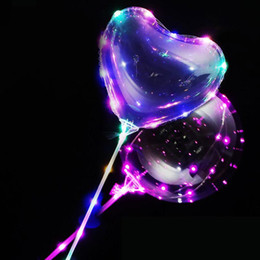 Gadgets Sale Australia - Hot Sale with handle LED bobo ball light up bobo balloons 3m led lights string transparent clear bobo balloons LED Gadget free shipping
