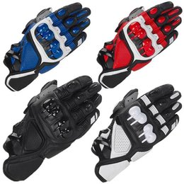 Wholesale 2019 Alpine S1 Leather Gloves Stars Motocross motorcycle Glove Off road Outdoor Sports Protective MTB Gantes Moto Racing Gloves Luvas