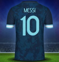 argentina jerseys NZ - 19-20 Argentina 10 Messi 21 Dybala Thai Quality Soccer Jersey Shirts,Home Away Black Customized 11 Di Maria 22 L.MARTINE Soccer Wear