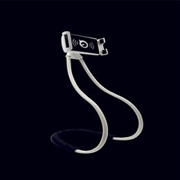 Discount hanging holder phone - Free DHL Lazy Hanging Neck Phone Stands Necklace Cellphone Support Bracket for Samsung Universal Holder for iphone