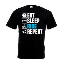 Cycling Cyclist Australia - Eat Sleep Ride Repeat T Shirt Funny Bike Cycling Cyclist Christmas Gift TopFunny free shipping Unisex Casual Tshirt top