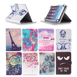 Asus Google Nexus Tablet Australia - Cartoon Printed Universal 10 inch Tablet Case for Apple iPad 4 3 2 Cases kickstand PU Leather Flip Cover Case