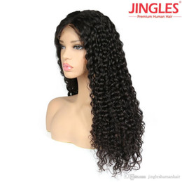 Human Hair Lace Wigs Free Shipping Australia - 100% Unprocessed Remy human hair Brazilian Human Hair Wigs Deep wave Brazilian lace front wigs for black women cheap deal DHL free shipping