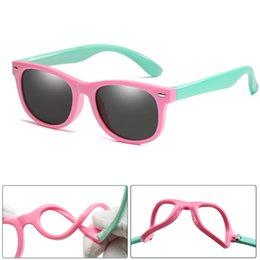 Girl's Glasses Children Square Polarized Silicone Sunglasses Safe Sun Glasses Uv400 Coating Mirror Lentes De Sol Mujer Girls Boys