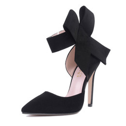 China New spring summer fashion sexy big bow pointed toe high heels sandals shoes woman ladies wedding party pumps dress shoe suppliers