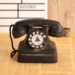 Vintage Living Room Furniture Australia - Retro European Telephones ornaments Home Decor Crafts Receiver Telephone Mode Vintage Decorative Bar Furniture