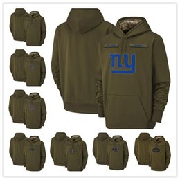 Los Angeles New Orleans Chargers Rams Saints New York Tampa Bay Giants  Buccaneers Cowboys 2018 Olive Salute to Service Pullover Hoodies 0d79b4756