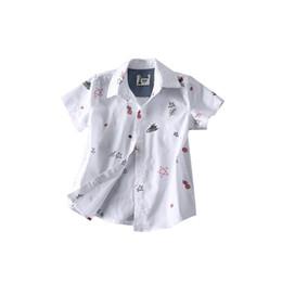 school shirts for boys 2019 - 2019 OLEKID Summer Boy Shirts Brand 100% Cotton Printed Star Shirts For Boys 3-8 Years Boys Blouse Short Sleeve School S