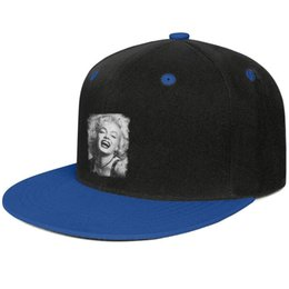 $enCountryForm.capitalKeyWord NZ - Marilyn Monroe Retro photo mens and women flat brim hats Blue snapback design kids hats custom kids make your own fashion blank baseball