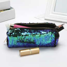 $enCountryForm.capitalKeyWord Australia - Fashion Cosmetic Bags Double Color Sequins Handbag Cosmetic Bag Makeup Pouch Women Girl's Pencil Bags#YL
