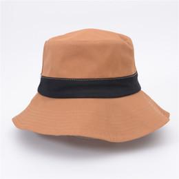 8e87d9d1d27 Bucket Hat Wholesale UK - 5 Color Bucket Hats Fisherman Hat For Women Men  DIY Portable
