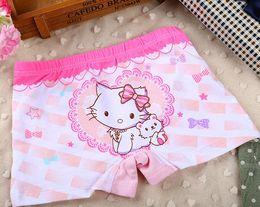 $enCountryForm.capitalKeyWord NZ - cartoon cat bow-knot flower girls boxers baby trunk kids shorts child panties cotton pants children underwear Cute briefs clothing 3-13Y 6PK