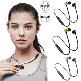 $enCountryForm.capitalKeyWord NZ - Cheap Bluetooth Earphones Magnetic Earbuds Wireless Headphones Sport Running Headset Stereo Music In-ear Earphone With Mic Good Quality