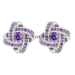 $enCountryForm.capitalKeyWord Australia - Yoursfs stud knot earrings for women Elegant Purple Crystal Small Earrings