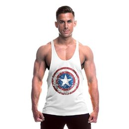 cheap t shirts wholesale purple UK - Men T Shirt Vest Men Bodybuilding Cotton Tank Tops Fitness Cheap Jerseys Stringer Printed Cartoon Sleeveless Shirt Fashion Tops