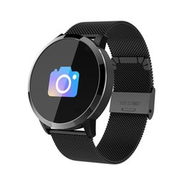 Q8 Smart Watch Australia - Q8 Smart Watch OLED Color Screen Smartwatch Women Fashion Fitness Tracker Heart Rate Monitor Smartband Sport Watch Men Clock