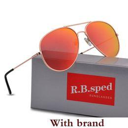 Color Flash Drive Australia - Designer Polarized Sunglasses Classic Pilot Sun glasses for Men Women Driving glasses UV400 Metal Frame Flash Mirror polaroid Lense