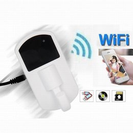 Mini nanny caMs online shopping - P P MP Wifi Clothes Hook Camera Super Night Vision Camcorder Mini Network Nanny Cam Home Security Cameras Black White