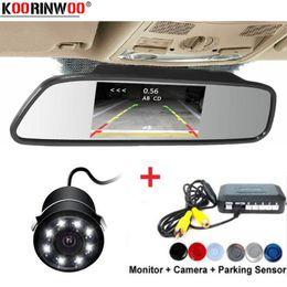 Cpu alarm online shopping - Koorinwoo Ultrasonic CPU Car Parking Sensors Alarm Buzzer Rear Radar view camera Parktronic Monitor Mirror detector
