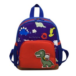 backpack baby boy UK - Baby Boys Girls Kids Bag Dinosaur Pattern Cartoon Backpack Toddler School Bags Casual Backpack for children