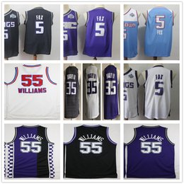 Jason williams Jerseys online shopping - 2019 New De Aaron Fox Jersey Mens Retro Stitched Basketball Jason Williams Purple White Blue Black Marvin Bagley III Jerseys