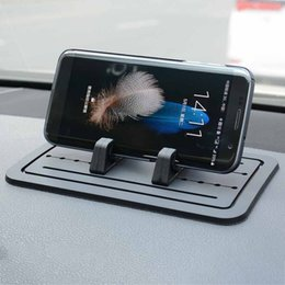 cell phone car navigation holder 2019 - 1PCS Car Silicone Anti-Slip Pad Dash Mat Cell Phone Mount Holder GPS Table Holder Navigation Bracket New cheap cell phon