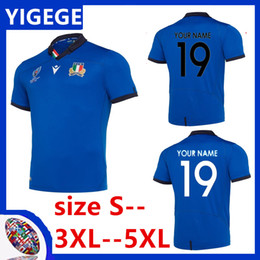 China ITALY HOME RUGBY WORLD CUP 2019 JERSEY FIJI WALES SCOTLAND HOME RUGBY ITALY RUGBY RWC 2019 HOME PRO JERSEY Size S-5XL (can print) cheap xxxl italy jersey suppliers