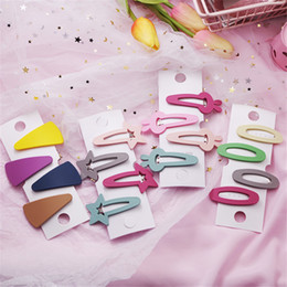 candy girl korean accessories Australia - 4Pcs set Korean Candy Color Hairpin Cute Geometric Scrub Hair Clip For Women Girls Hair Accessories