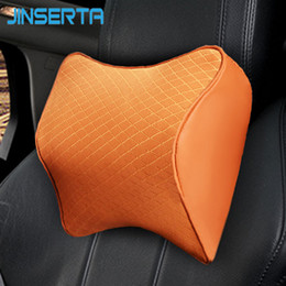 Travel Support Pillow Australia - JINSERTA Space Memory Foam Neck Pillow Car Seat Head Support Cushion Travel Pillow Comfortable Headrest Auto Accessories