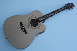 Acoustic guitAr online shopping - New Style Chinese Zodiac Memorial quot Acoustic Guitar Cattle Model Chinese Zodiac Fretboard Inlay Offer Customized