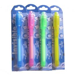 Toptan satış Her Siyah Işık Pen İçin Bireysel Blister Kart Paketi, Ultra Violet Light / Görünmez Mürekkep Pen / Görünmez Pen 373 ile UV Kalem