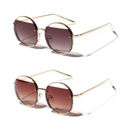315c69fed58 Round Sunglasses Hollow Retro Metal Frame Chic Fashion Stylish Personality  Party Driving UV400 Protection Women Men Brand Design