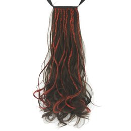 $enCountryForm.capitalKeyWord UK - Long Wavy Women Ribbon Band Type Hair Synthetic Hair Ponytails Hairpience Clip In Hair Extension