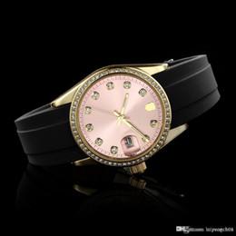 Wrist Watches Logos Australia - hot sale Top Luxury Brand Women crystal Watches Ladies Silicone Strap Quartz wrist watch Full logo Women Quartz Fashion Rhinestone case watc