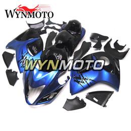 Abs Plastic For Hayabusa Australia - Hayabusa Motorcycle Fairings For Suzuki GSXR1300 2008 2009 2010 2011 2012 2013 2014 2015 2016 Preal Blue Black ABS Plastic Cover Hulls