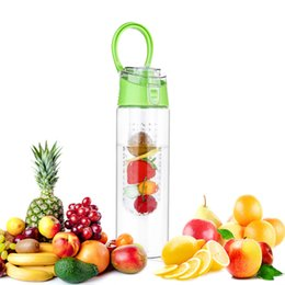 bpa free juice bottles wholesale Australia - 750ml Fruit Infuser Water Bottle BPA-Free Fruit Infusion Sports Bottle Juice Shaker Sports Lemon Water Bottle