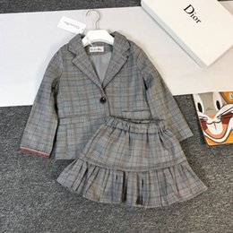 Skirt wind SuitS online shopping - fenash8 Knitted Skirt England The Wind Child Suit Girl Spring And Autumn Dress In Will Child Children Knitting Dress Twinset