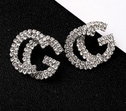 18k pearl online shopping - Fashion New G Letter Luxury Designer Earrings S925 Silver Needle G Stud Earring Jewelry with Pearl Crystal Gift