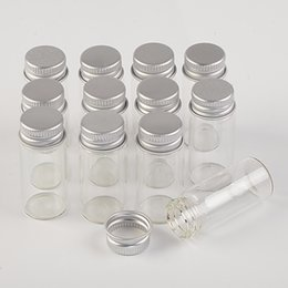 $enCountryForm.capitalKeyWord Australia - 100pcs 22x50 mm 10ml Aluminum Screw Cap Glass Bottles Travel Convenience Empty Refillable Cosmetic Vials Wishing Stars Bottles