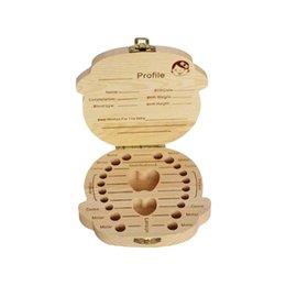 $enCountryForm.capitalKeyWord Australia - Wooden Kids Baby Tooth Box storage box Organizer Milk Teeth Wood Storage Baby Teeth Box for Boy Girl Save Teeth Umbilical