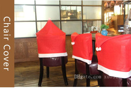 $enCountryForm.capitalKeyWord Australia - 1pcs Removable Santa Red Hat Chair Covers Christmas Decorations Dinner Chair Xmas Cap Sets Folding Hotel Chair Covering