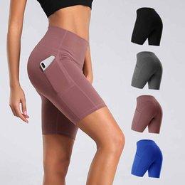 Wholesale phone pants resale online – Women Gym Shorts Women High Waist Lifting Push Up Tight Sports Leggings Phone Pocket Jogging Running Fitness Yoga Short Pant