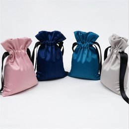 drawstring cosmetic bag Australia - High Quality Silk Jewelry Bag Jewelry Gift Packaging Beam Storage Cosmetic Bag Drawstring Closing Cloth Portable Cloth