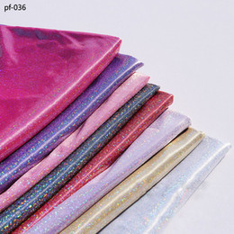 handicraft dolls 2019 - 50cm*150cm Laser stage fabric Colorful laser bronzing fabrics wedding decoration stretchy soft doll fabrics handicraft c
